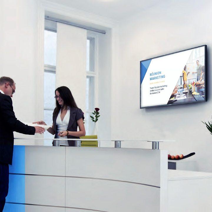Affichage dynamique faire patienter ses clients